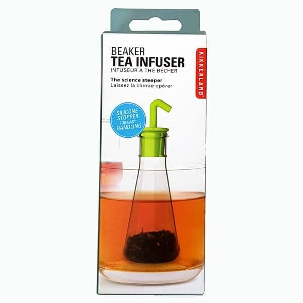Science beaker tea infuser