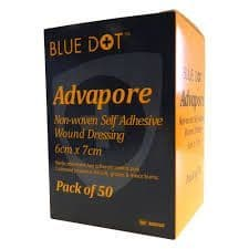 Advapore Self Adherent Dressing 6cm x 7cm Pack 50