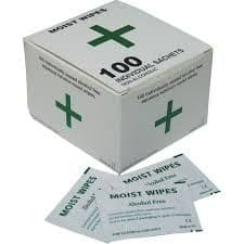 Alcohol Free Moist Wipes (Naturelle) Pack 100