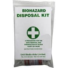 Biohazard Body Fluid Kit 1 Application - Grip Bag