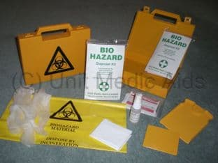 Biohazard Body Fluid Kit 2 Application - Yellow Biohazard Box