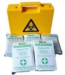 Biohazard Body Fluid Kit 5 Application - Yellow Biohazard Box
