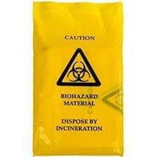 Biohazard/Clinical Waste Bag Self Seal 203 x 354mm Pack 100