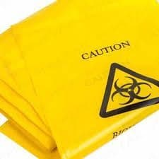Biohazard/Clinical Waste Bag Self Seal 420 x 630mm Pack 100