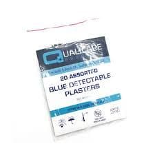Blue Detectable Plasters Assorted (Qualicare) Pack 20