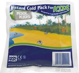 Kool Kids Instant Ice Pack 15cm x 15cm (Koolpak)