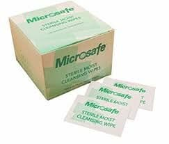 Sterile Saline Moist Wipes (Microsafe) Pack 100
