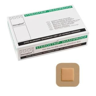 Washproof Plasters 4cm x 4cm (Steroplast) Pack 50