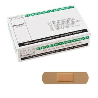 Washproof Plasters 7.5cm x 2cm (Steroplast) Pack 100