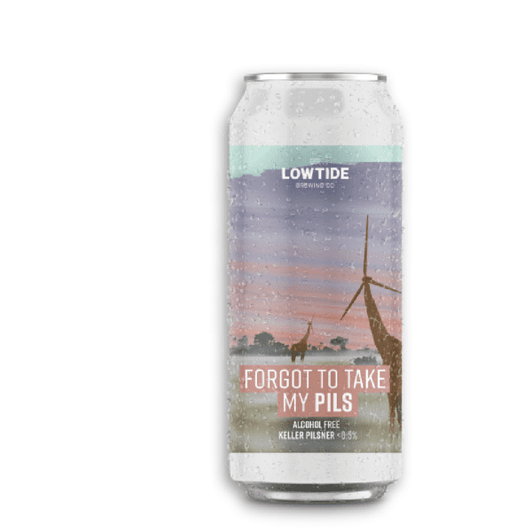 Lowtide Brewing Forgot To Take My PILS  Alcohol Free Beer (0.5% ABV)