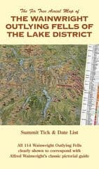 Fir Tree Aerial Map Wainwright Outlying Fells in the Lake District - Paper, folded