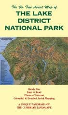 Fir Tree Map - Lake District National Park - Folded