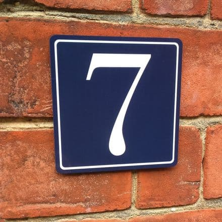 Classic colours house sign or wall plaque
