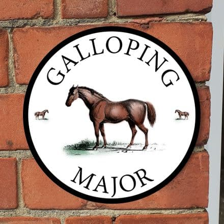 Horse stable or house sign