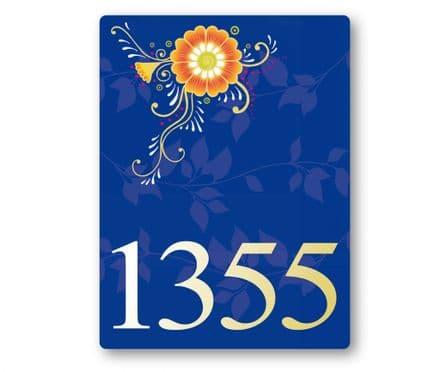 Marigold house sign or wall plaque