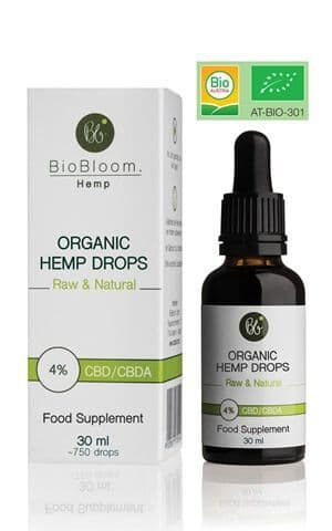BioBloom Organic CBD-CBDA Hemp Drops 4% 30ml