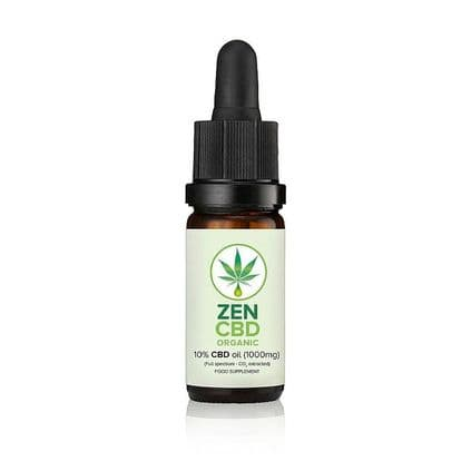 Zen CBD Organic Oil 10% 1000mg 10ml