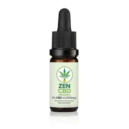 Zen CBD Organic Oil 5% 500mg 10ml