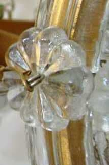 10 GLASS FLOWER DROPS, 25mm CHANDELIER ROSETTES - Ref: WR25