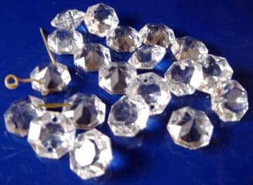 12mm octagons (2 pin holes) - 20 drops - Ref:WO12