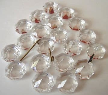14mm Octagons (2 holes) - 20 drops - Ref:WO14
