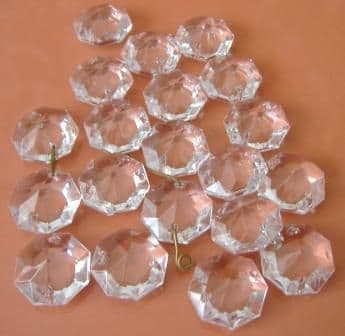 20mm Octagons (2holes) - 10 drops - Ref: WO20