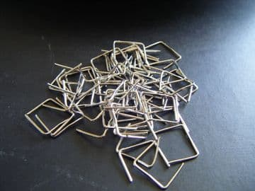 Chrome Clips - 11mm long - 100 grams weight. (Approx 800)