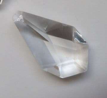 CRYSTAL HEXAGON DROP 38mm x 19mm