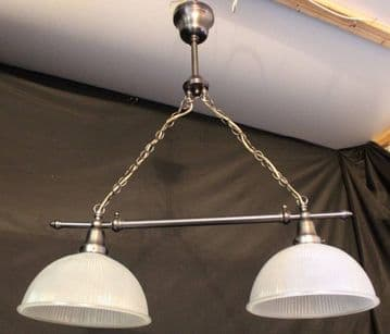 VINTAGE RETRO STYLE CHANDELIER METAL & GLASS CEILING LIGHT - Ref: AAP17