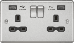 CL92BC  Switched Sockets With USB Chargers