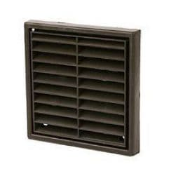 """FG4 4""""/100mm Fixed Grill/Vent Brown"""