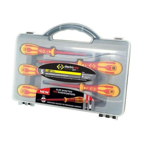 Slim Shafted Insulated Screwdrivers