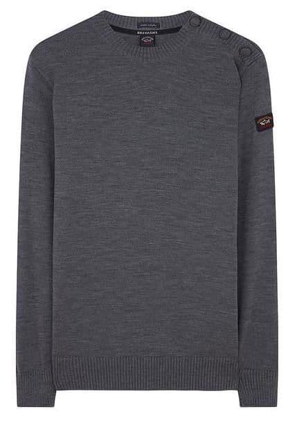 Paul & Shark Bretange Button Shoulder Grey