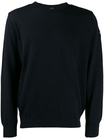 Paul & Shark Merino Wool Crew Navy