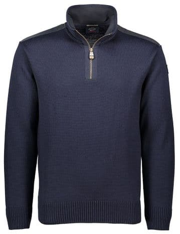 Paul & Shark Mock Neck Sweater <br>Navy