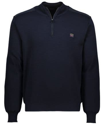 Paul & Shark Zip Neck Sweater <br>Navy