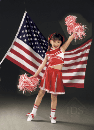 Red and White Cheerleading Outfit