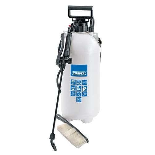 Portable Vehicle Pressure Sprayer / Cleaner With Brush