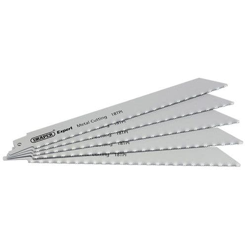 Reciprocating Saw Blades 18 TPi For Metal  5 Pack