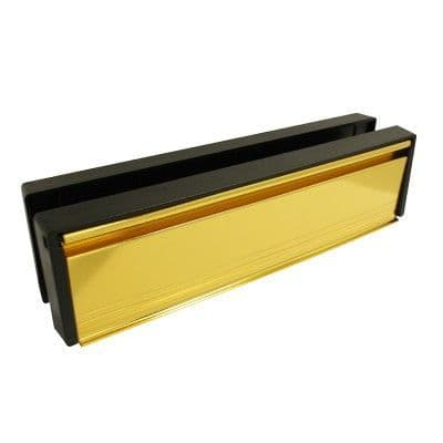 Replacement 10 Inch Gold Letterbox For UPVC Doors