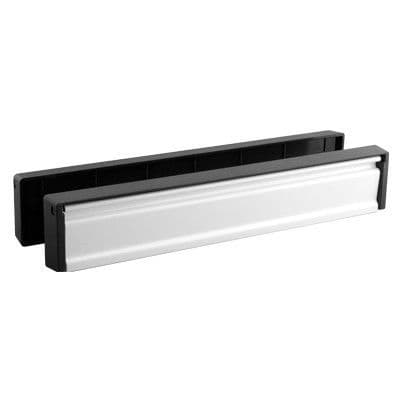 Slim Line 12 Inch Letterbox Silver Anodised