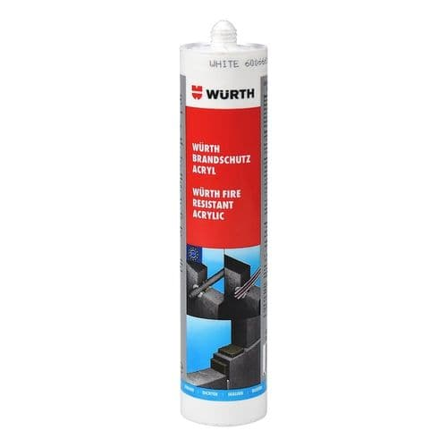 Wurth Intumescent Fire Rated & Acoustic Acrylic  Sealant