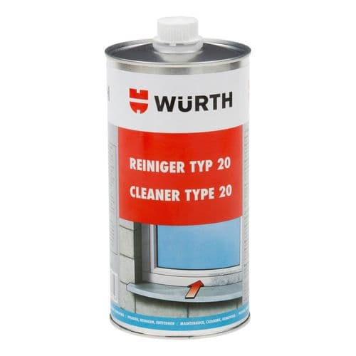 Wurth Type 20 Cleaner For Cleaning Hard PVC