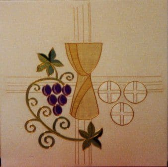 Chalice and Vine Panel