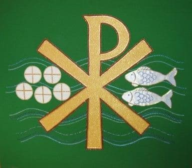 Chi Rho Loaves and Fish Panel