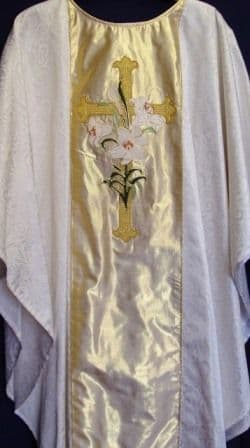 Silk Panel Chasuble - Floral Design