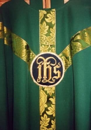 St Margaret Brocade Orphrey Chasuble