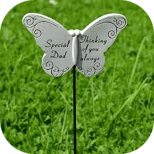 """""""Special Dad, Thinking of You Always"""" Memorial Garden / Grave Rod / Wand Stick"""