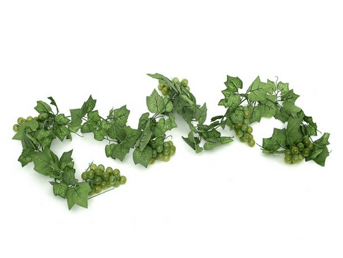 Artificial Fruit Grape Garland Green 183 cm