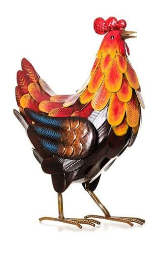Colorful Metal Rooster 40 cm